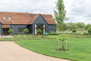 landscaped drive and garden