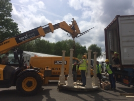 adding feature at chelsea flower show