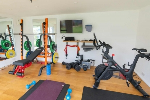 Fully equipped garden gym