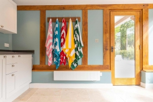 Changing facilities in pool house