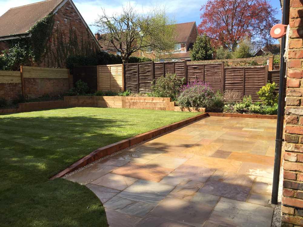 minimalist modern residential garden
