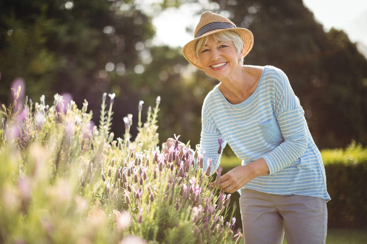 Woman enjoying gardening
